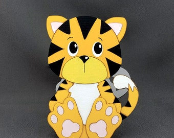 Handmade Tiger card