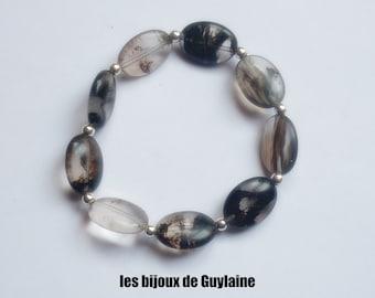 Chunky agate stone Stretch Bracelet
