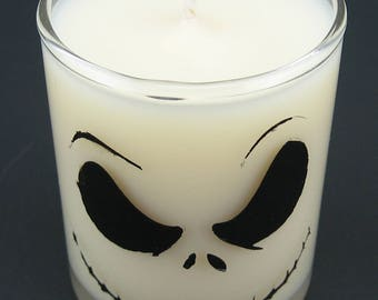 Nightmare Before Christmas Halloween Mini Soy Container Candle - Jack Skellington or Zero