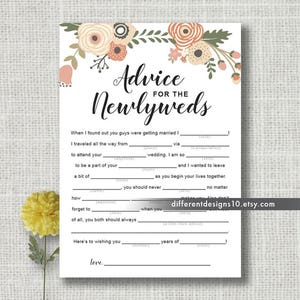 wedding mad lib etsy
