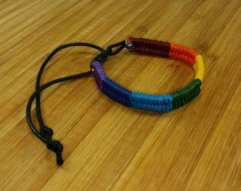 Rainbow Jewelry - Rainbow Bracelet -LGBT Bracelet Gay Pride Bracelet - Braided Bracelet - Rainbow Braid - Multicolour Bracelet - Colorful