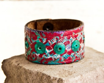 Sale  Turquoise Jewelry Accessories Leather Cuffs Bracelets for Women's