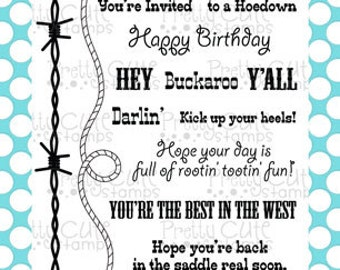 """Best in the West 4x6"""" Clear Photopolymer Stamp Set"""