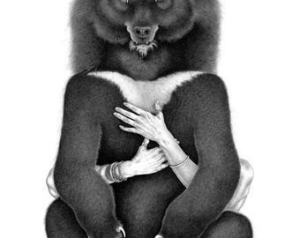Moon Bear, Or How To Embrace Your Emotional Self art print