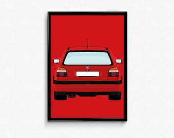 Mk3 Volkswagen Golf GTI A3 Print