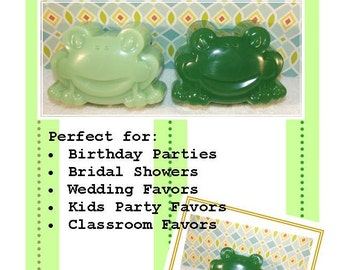 Large Frog Soap, 20 Frog Soaps, Glycerin Soap, Froggy Soap, Baby Shower Soap, Birthday Soap Favor
