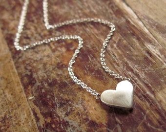 Heart Necklace Heart Necklaces Heart Jewelry Womens Gift for Women Gift for Her Girlfriend Gift Valentines Day Gift Sterling Silver Necklace