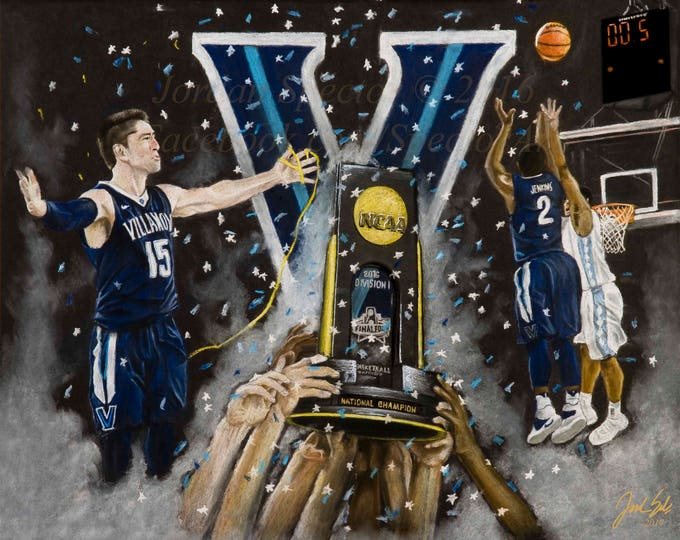 Villanova Basketball Art Print- 2016 National Champions - Nova Nation - Villanova Wildcats - Villanova Wall Art - Limited Edition - 20x24