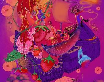 The Baker's Dozen Night 2 Strawberry Phish Print