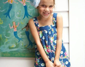 Sis Boom Bettyann shift dress or top -PDF Sewing Pattern...easy to sew, and so cute for girls!