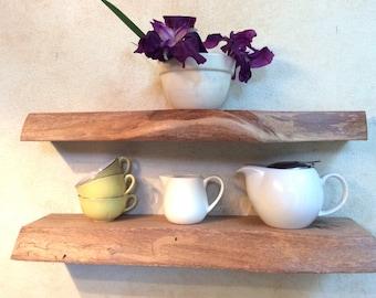Floating Shelves Perth Marri Set of 2 Rustic live edge Wall Mounted Kitchen Floating Shelf Custom Made