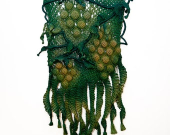 Macrame Wall Hanging 'Vineyard' - Handmade with 100% hemp
