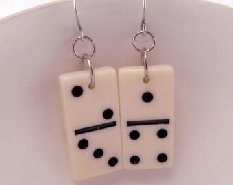Mini Domino Wire Earrings Dork Nerd Geek Game Funky KITSCH
