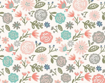 Heart & Soul Main in Cream/Blush by Deena Rutter for Riley Blake Designs