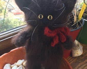 Amigurumi crochet cat, plush toy cat, crochet animal gift, cat lover birthday gift, handmade soft cat toy, fat cat stuffed toy, brown cat