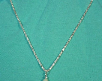 "Simply beautiful 18"" necklace with Amazonite Pendant - N392"