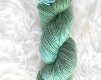 mermaid tail - MCN dk weight yarn - merino cashmere nylon