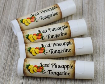 Iced Pineapple and Tangerine Flavored Lip Balm - Handmade All Natural Lip Balm