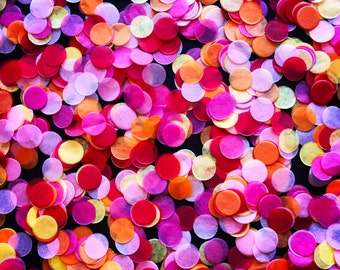 Pink, Yellow, Orange and Red Fiesta Tissue Paper Confetti