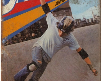 """Vintage Skateboard Annual Magazine 10"""" x 7"""" reproduction metal sign"""