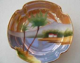 Vintage Noritake Plate Japanese Handpainted Lustreware