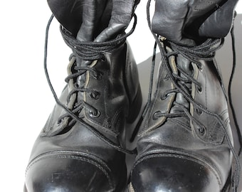 Combat Boot Size 9 1/2 1980's Biltrite Sole Leather Boots Army Military