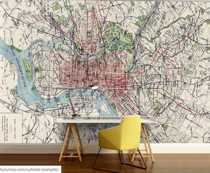 City map wallpaper street wall mural philadelphia wallpaper request a custom order and have something made just for you gumiabroncs Choice Image