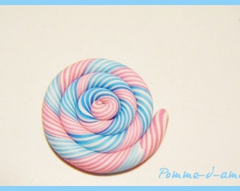cabochon fimo polymer clay spiral