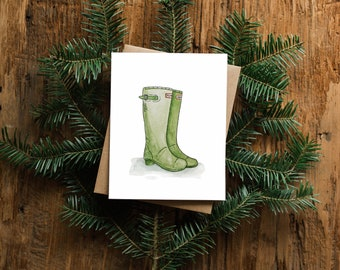 Spring Greeting Card - Boots