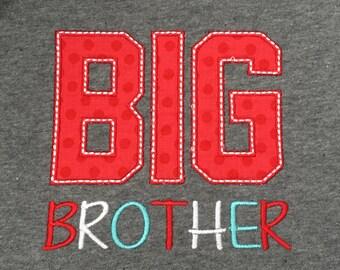 Big Brother Toddler T-shirt , sibling t-shirt, custom made, made to order