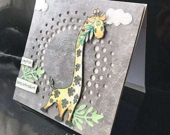 "Giraffe ""happy birthday"" card"
