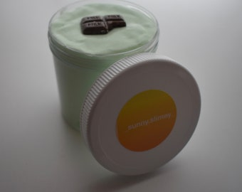 Mint Chocolate Chip Ice Cream Slime (Scented)