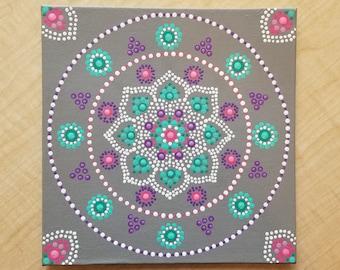 "Dottilism Mandala Acrylic Painting - ""Bountiful"""