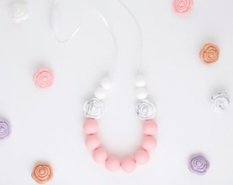 Piper Kids Necklace // Teething // Teething Necklace // Nursing Necklace // Silicone Beads // 100% Food Grade Silicone // Kids Jewelry