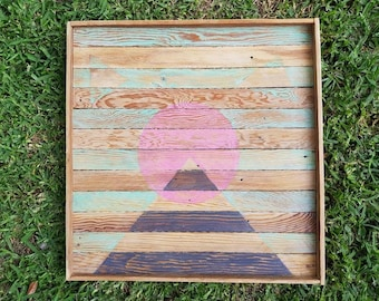 Number 54 - Recycled Lath Timber Wall Hanging