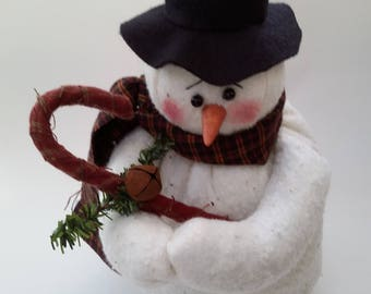 primitive snowman, primitive snowman doll, snowman decor, snowman decoration, primitive snowman decor, primitive snowman decoration, snowman