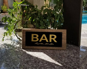 Bar Sign. Home Bar Sign. Rustic Modern Bar Sign. Home Wall Decor. Man cave Bar Sign. Custom Bar Sign. Wooden Bar Sign. Personalized Gift.