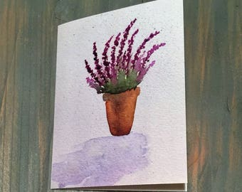 Lavender Watercolor Note Cards - Box of 6