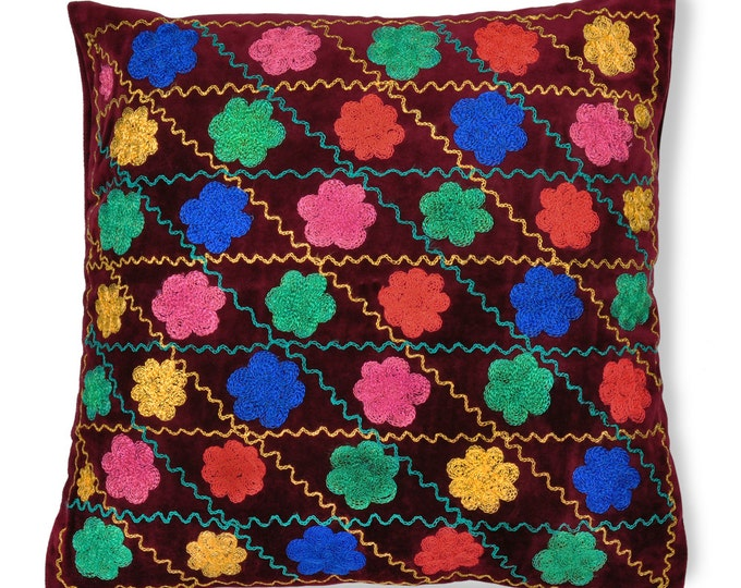 "Bukhara Bouquet, 19"" Patduzi Pillow Cover- 4067"