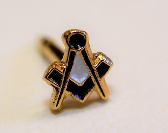 Masonic Square and Compass Medium (Speck of Dust) Lapel Pin (LP11)