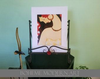 Latin Madonna Art Print w/ Matte (11x14, white or black)