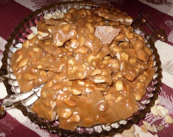 Homemade Cashew  Brittle Candy  1 lb  Melt in your Mouth Yummy