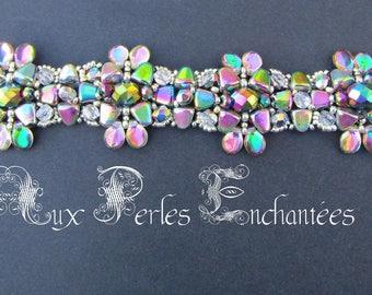 Tutorial bracelet tutorial beads, beaded bracelet patterns, diagrams Pearl Tiffany bracelet instructions