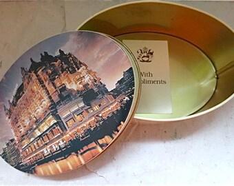 Hotel De L'Europe Tin - Amsterdam Hotel Souvenir Vintage 1980's Oval Trinket Tim Box
