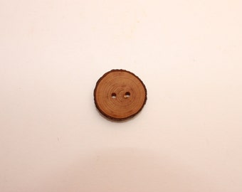 Set of 10 rowan wooden buttons | 1 -1.2 "