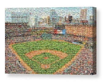 Unique Baltimore Orioles Mosaic Art Print with Over 210 Player Trading Cards (1954 - Present).  All the All-time Greats are included.