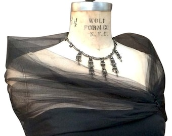 Tulle Black Shrug, Tulle Stole, Evening Wrap