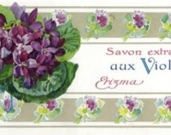 Violettes Soap Label (Art Prints available in multiple sizes)