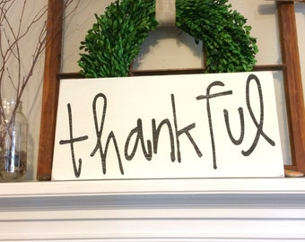 Thankful Hand Painted Sign
