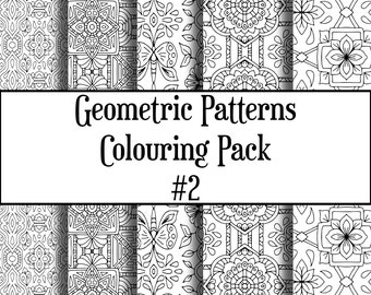 Geometric Patterns Colouring Pack #2